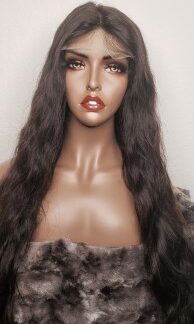 Body wave glueless lace closure wig